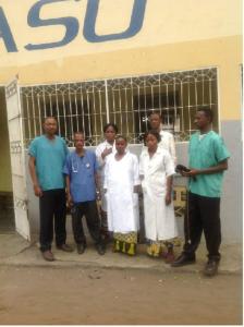 Le personnel du centre de santé