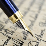 Image de lettre manuscrite