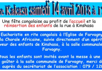 (Français) Fête Kakasu Samedi 14 avril 2018 – Venez nombreux !